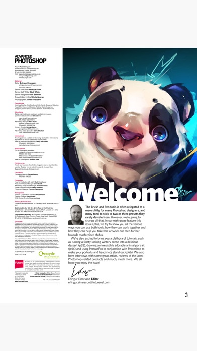 Advanced Photoshop Magazine review screenshots