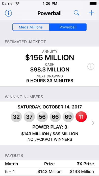Mega Millions + Powerball screenshot 2
