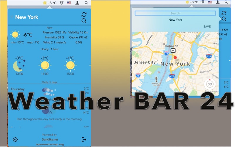 Weather 24 Bar - Forecast 5 for Mac