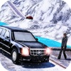 Limo Taxi Mountains Road 3D