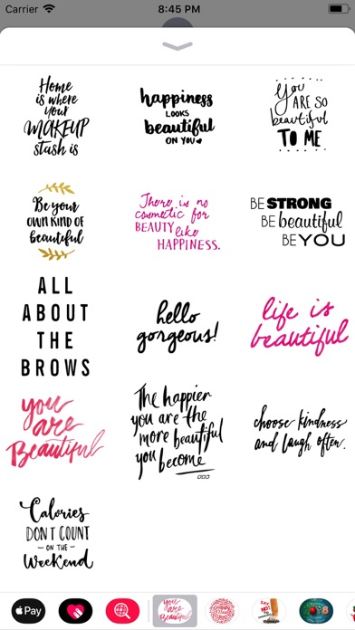 Screenshot for Beauty Love Quote Sticker Pack in Finland App Store