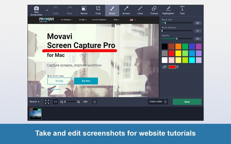 Screen Capture Pro Movavi Screenshots