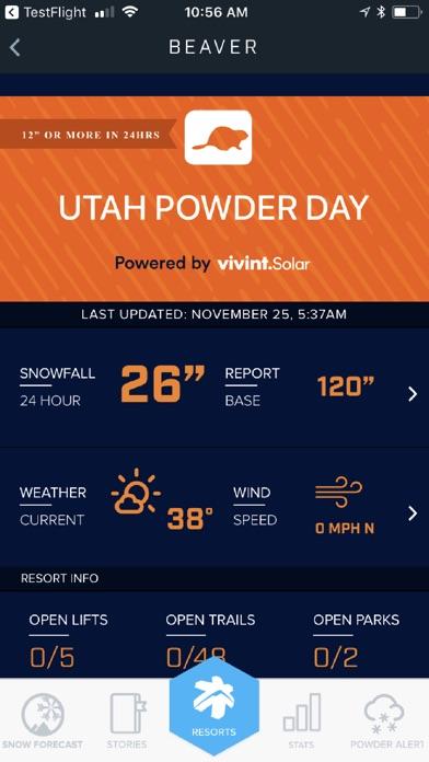 Ski Utah Snow Report Скриншоты5