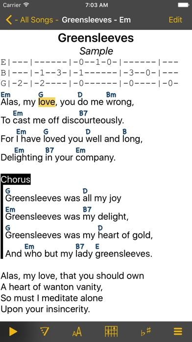 SongBook Chordpro Screenshot