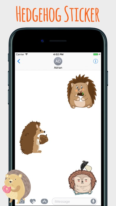 download Spiky Hedgehog Stickers apps 3