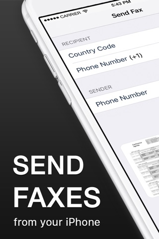 Fax App - Send Fax from iPhone screenshot 1