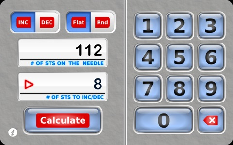 Knit Evenly Calculator screenshot 1