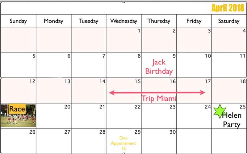 power point calendar templates