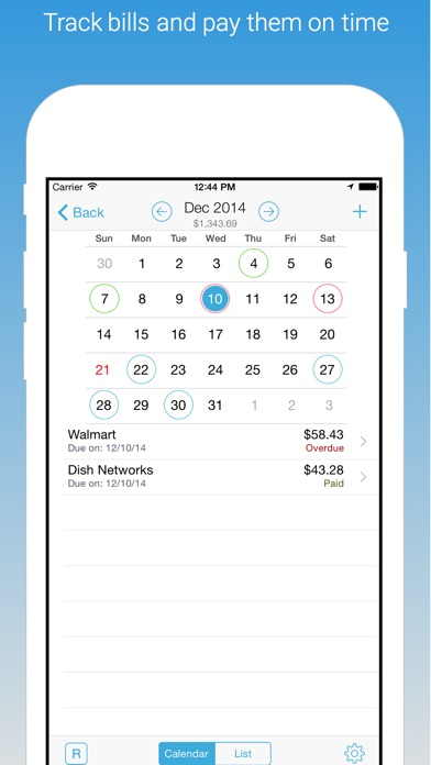 HomeBudget with Sync Screenshots