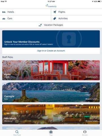 Travelocity Flight, Hotel, Car screenshot 1