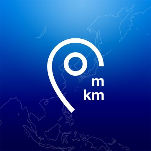 距離ピンナー - 地図で距離の計算