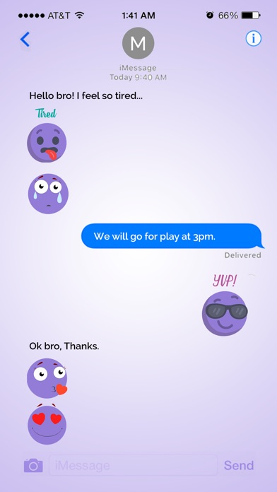 Animated Cute Purple Sticker screenshot 4