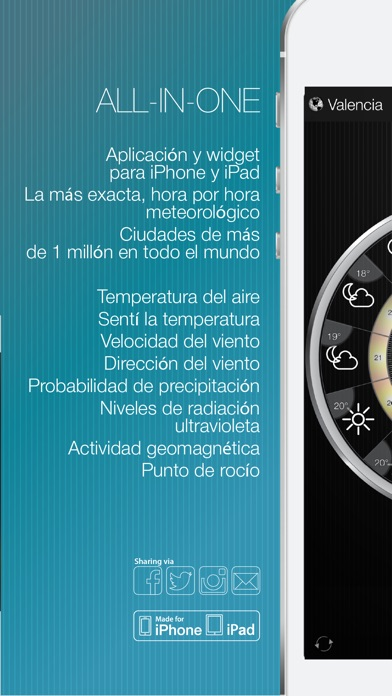 download Tiempo & Reloj Widget apps 0