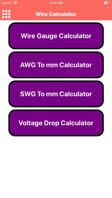 Wire gauge calculator swg gallery wiring table and diagram wire calculator app app store screenshots keyboard keysfo gallery greentooth Gallery
