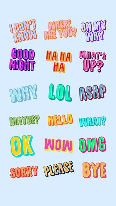 Text Stickers Screenshots