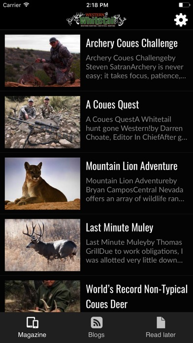 Western Whitetail Magazine review screenshots