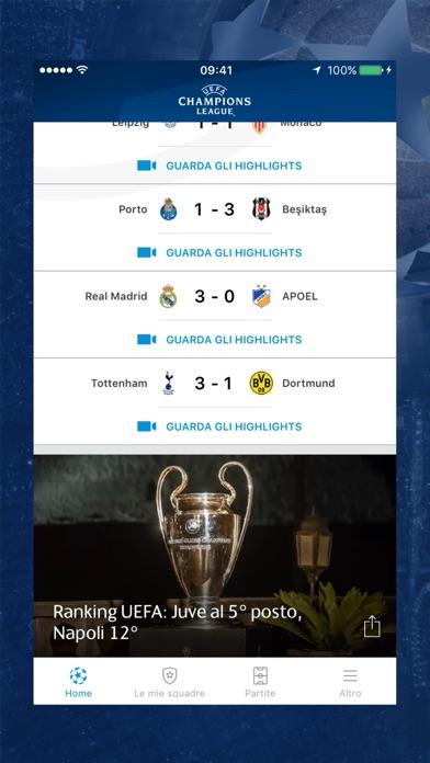 Champions League Screenshot