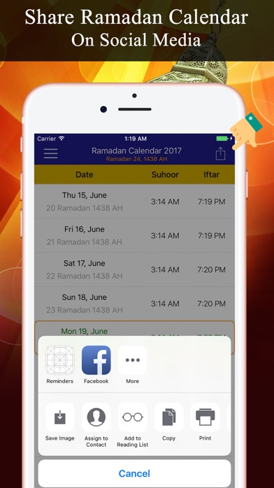 Screenshot of Calendario del Ramadan PRO3
