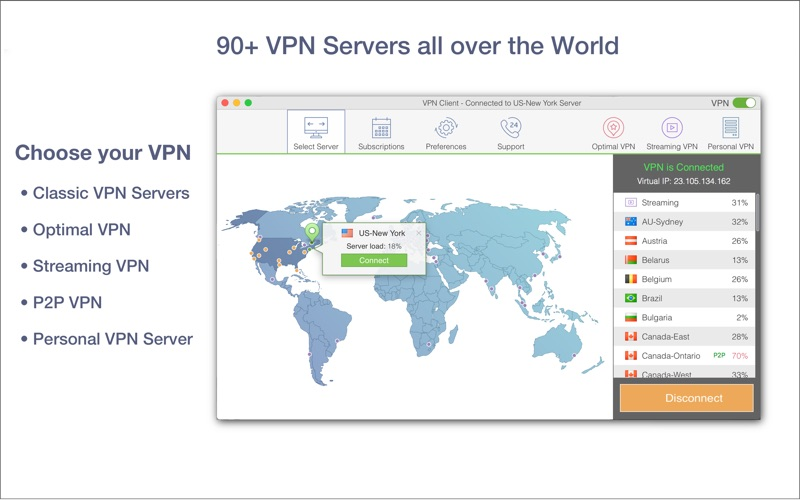 VPN Client Screenshot - 2