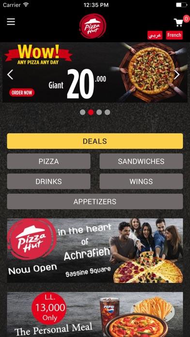 Screenshot for Pizzahut Lebanon in Lebanon App Store