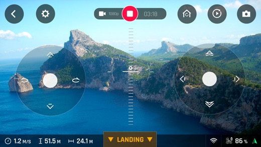 FreeFlight Pro. Screenshot