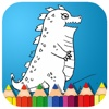 Painting Cartoon Animal Godzilla Coloring