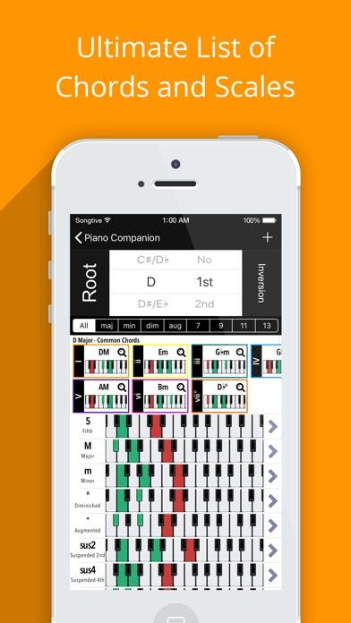 Piano Chords Companion PRO Screenshots