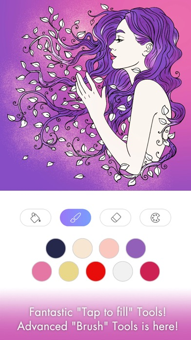 Screenshots of FREE Adult Coloring Book - Color Therapy Page for Anti-Stress Relief for iPhone