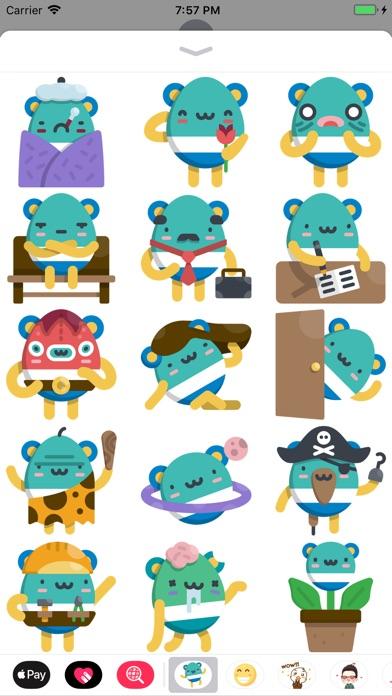 Screenshot of Eggy Emoji Stickers App