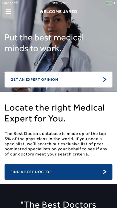 Best Doctors Member App screenshot 1