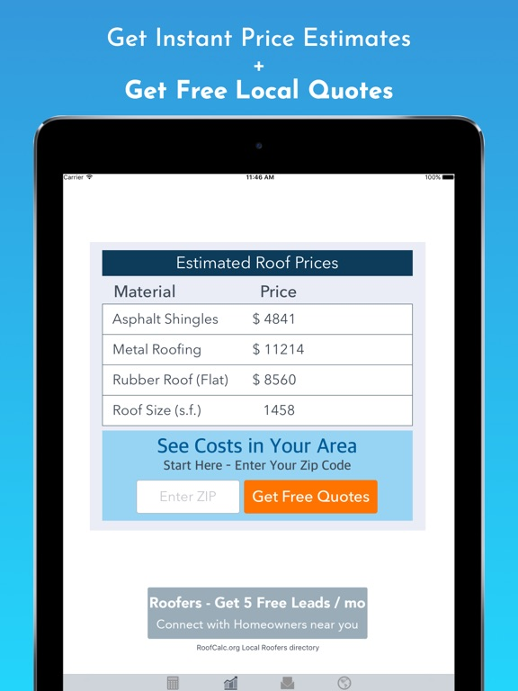 Ipad Screenshot 2. Roof Calculator On The App ...