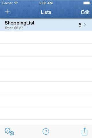 ShoppingList screenshot 4