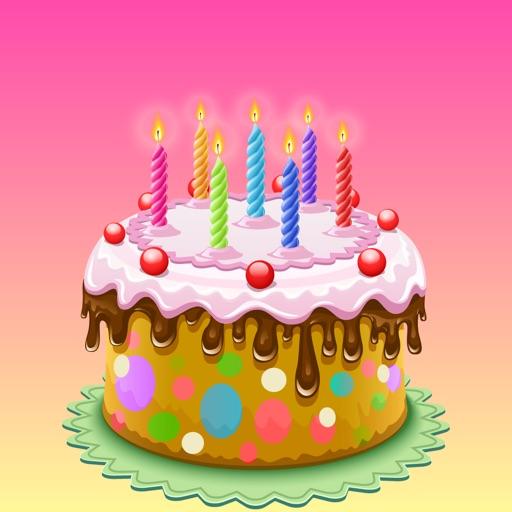 3D Happy Birthday Cake Sticker