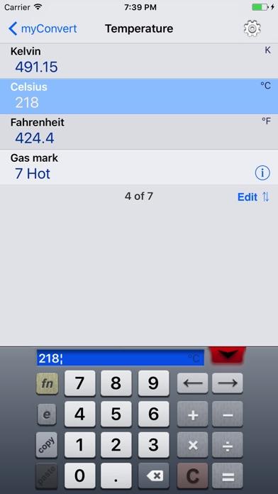 myConvert - unit converter screenshot four