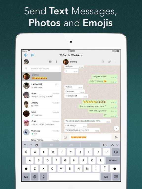 WzPad for WhatsApp for iPad Screenshots