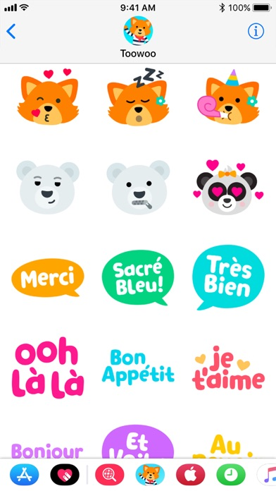 Screenshot of Toowoo Paris Stickers2