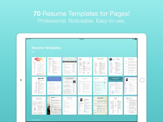 resume templates for pages on the app store
