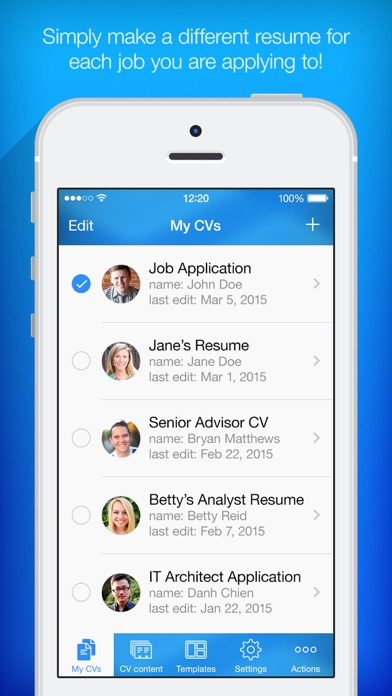 iphone screenshot 2 - Resume Maker