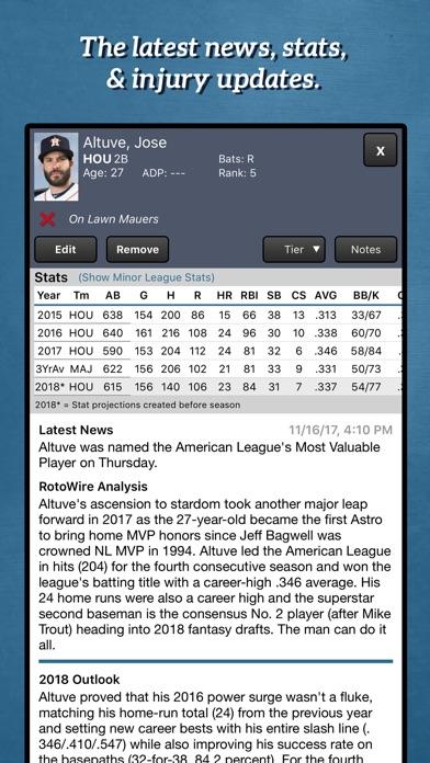download Fantasy Baseball Draft Kit '18 apps 2