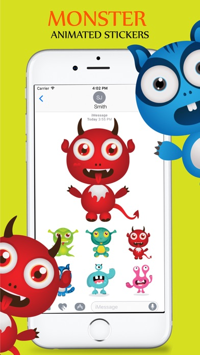 Animated Cute Monsters Stickers iMessage screenshot 3