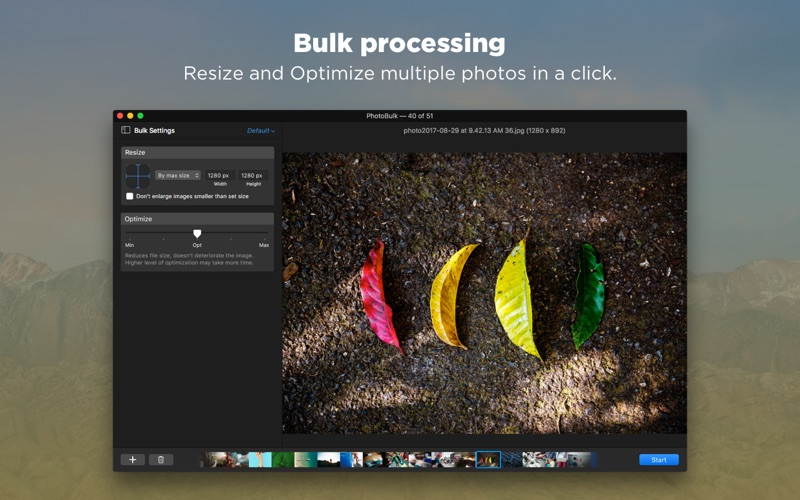 PhotoBulk: watermark in batch Screenshots