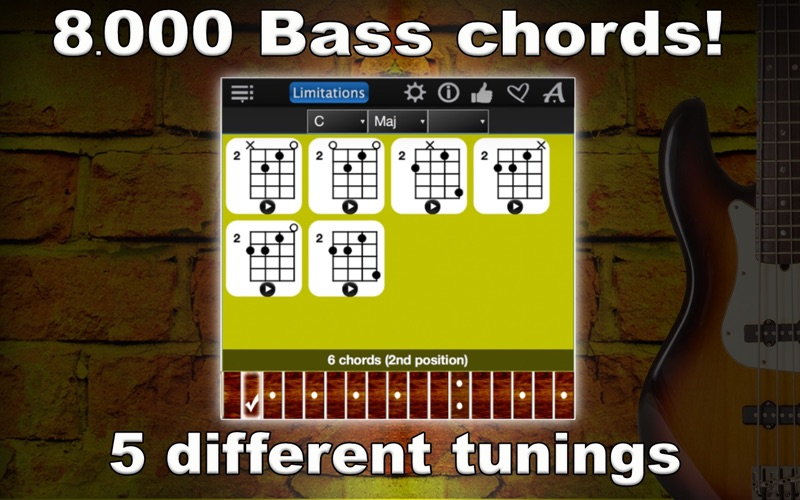 Bass Chords Compass Lite Screenshot - 1
