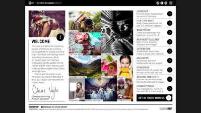 Olympus Magazine review screenshots