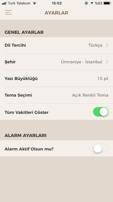 Fazilet Takvimi Pro screenshot1