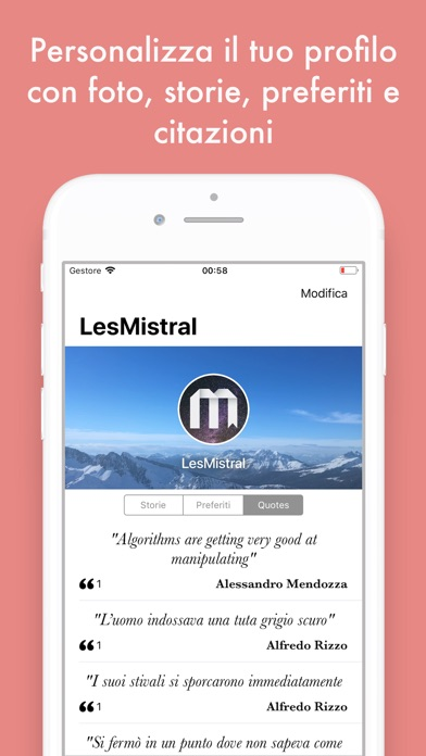 Screenshot of Les Mistral - Storie6