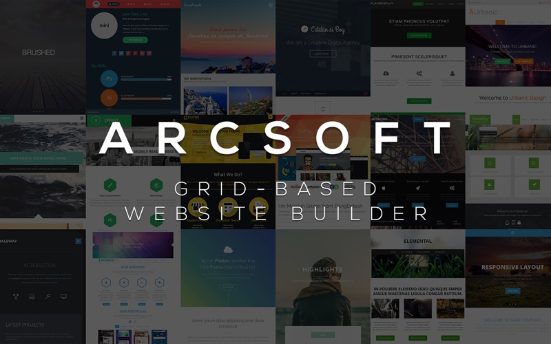 ARCSOFT™ – Website Builder Screenshots