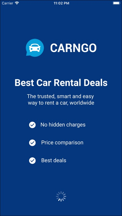 Screenshot of CARNGO.com - Car Rental APP1
