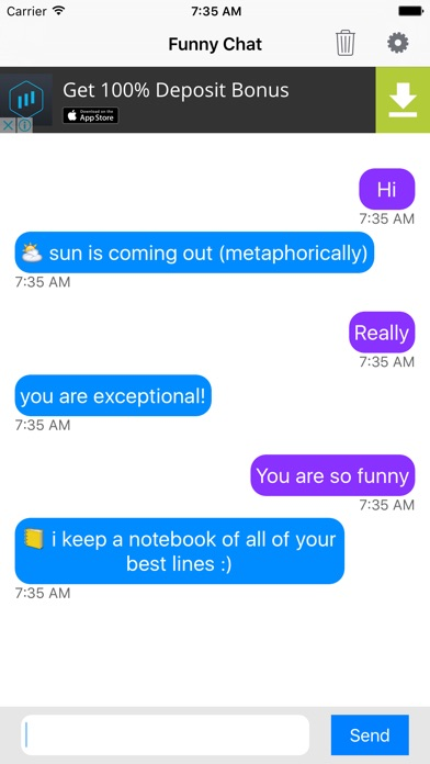 Funny Chat - quick chatbot