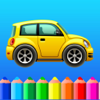 Coloring book Cars games for kids girls and boys