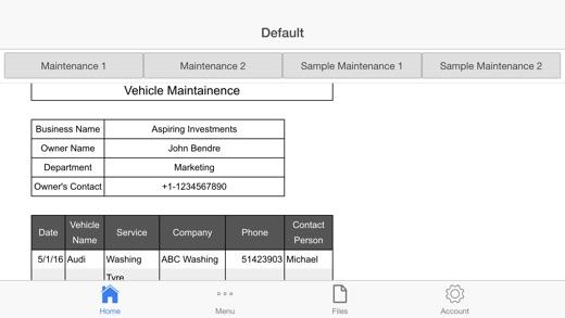 company vehicle maintenance log